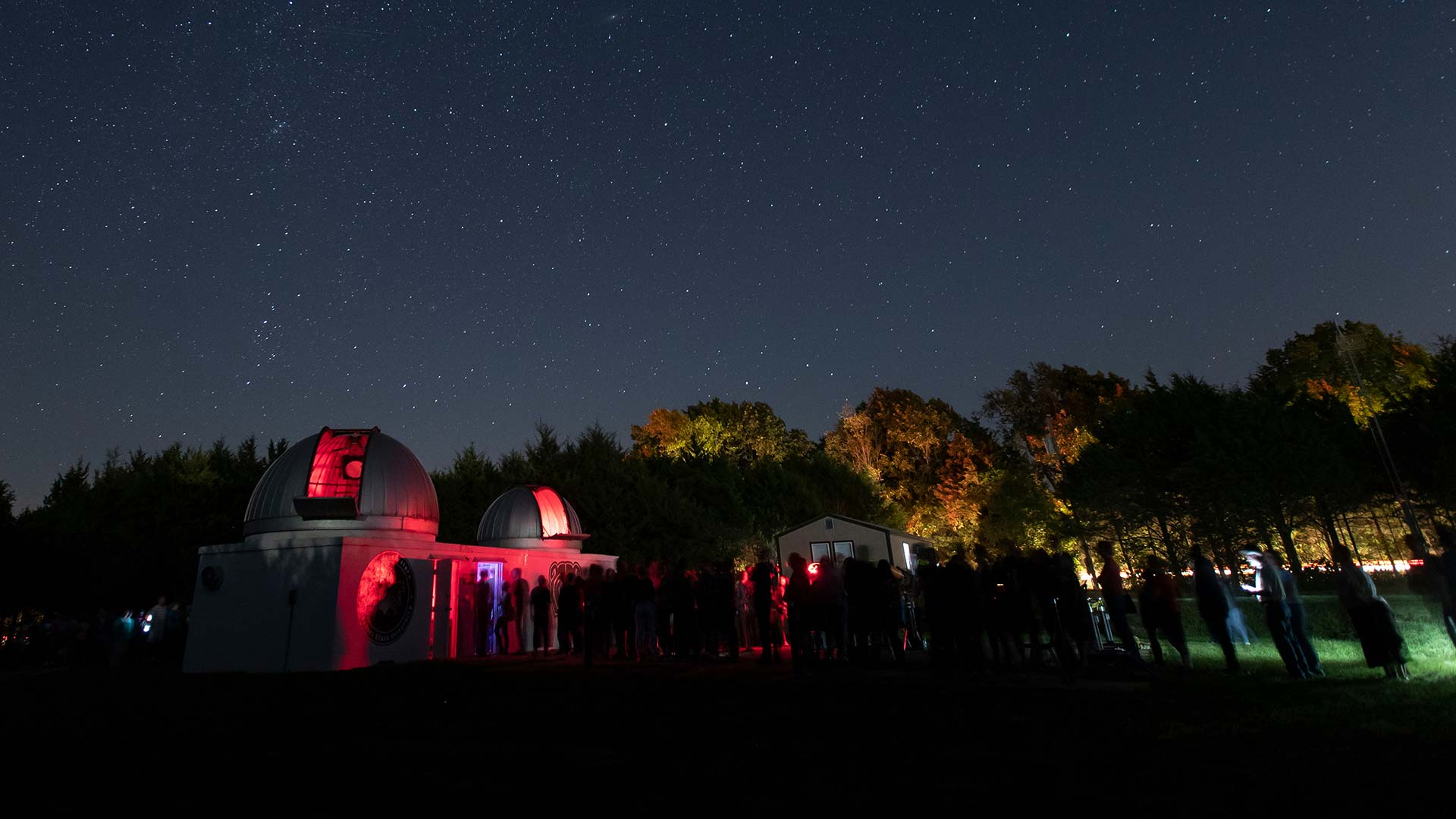 Baker Observatory at night.