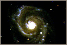 A brilliant spiral galaxy